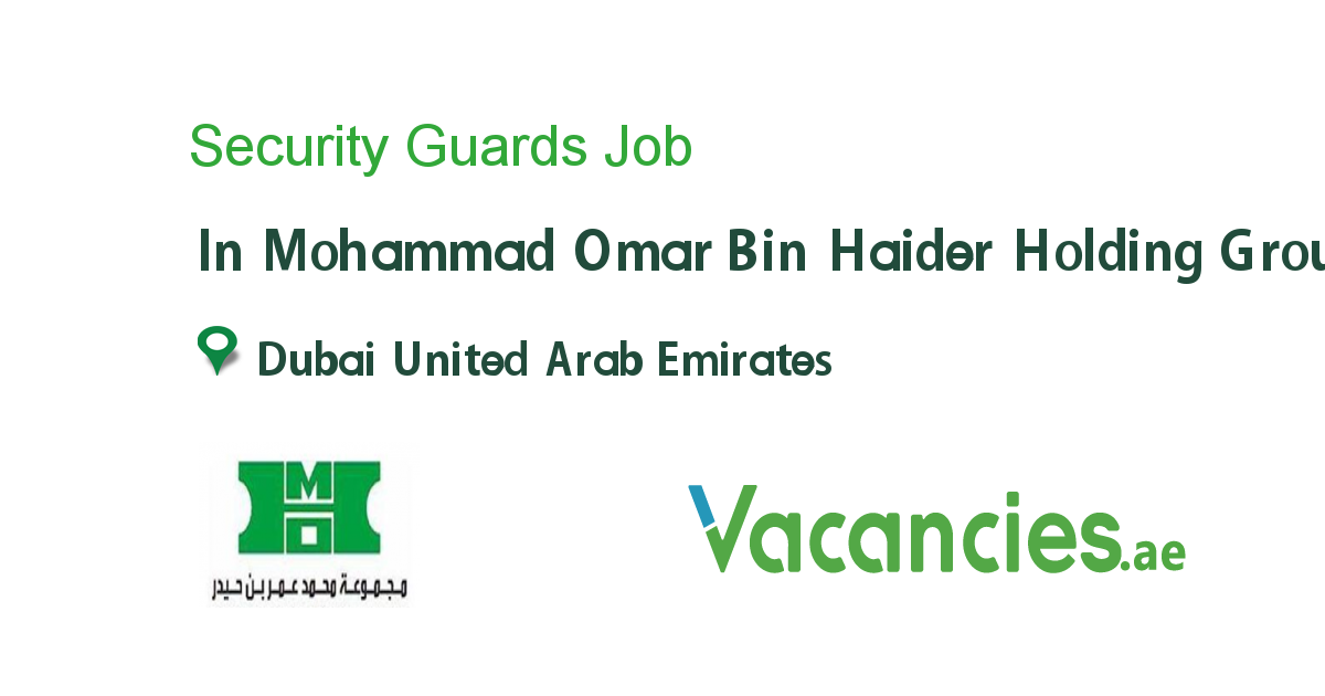 Security Guards - Vacancies.ae