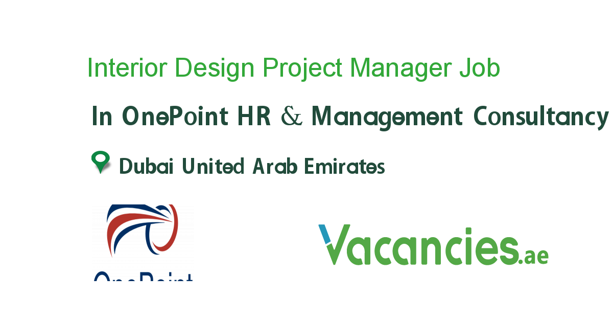 Interior Design Project Manager Jobs Dubai