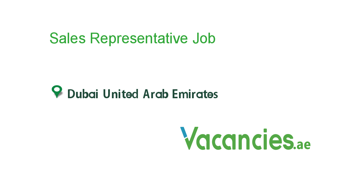 Sales Representative - Vacancies.ae
