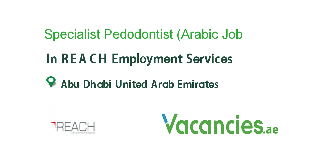 Specialist Pedodontist (Arabic Nationals)