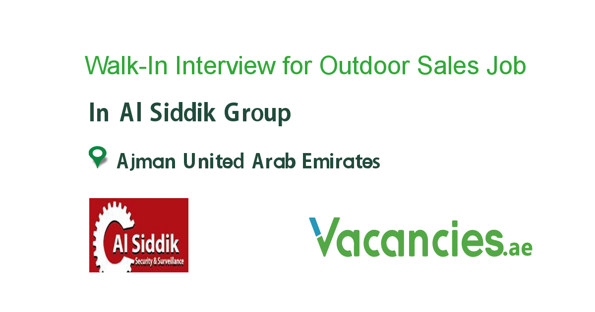 Walk-In Interview for Outdoor Sales Executive