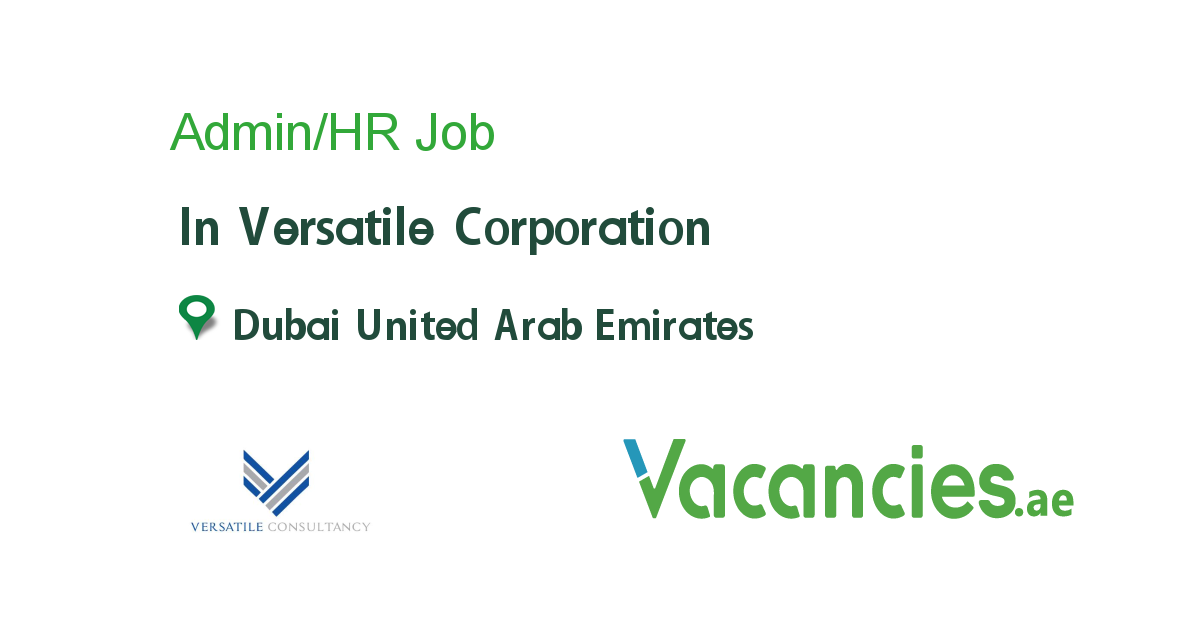 Admin/HR - Vacancies.ae