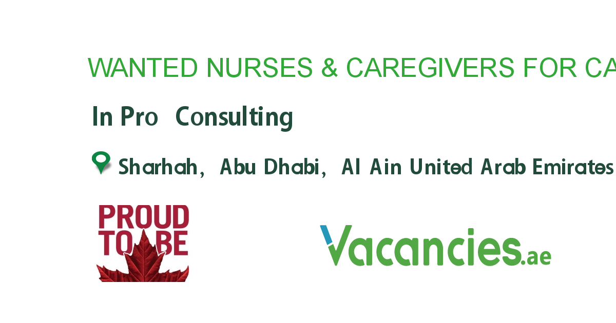WANTED NURSES & CAREGIVERS FOR CANADA!