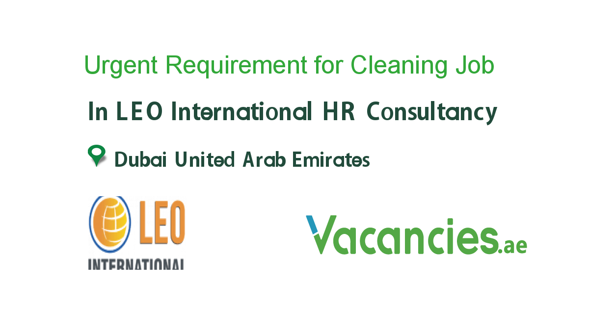 Urgent Requirement for Cleaning Supervisor