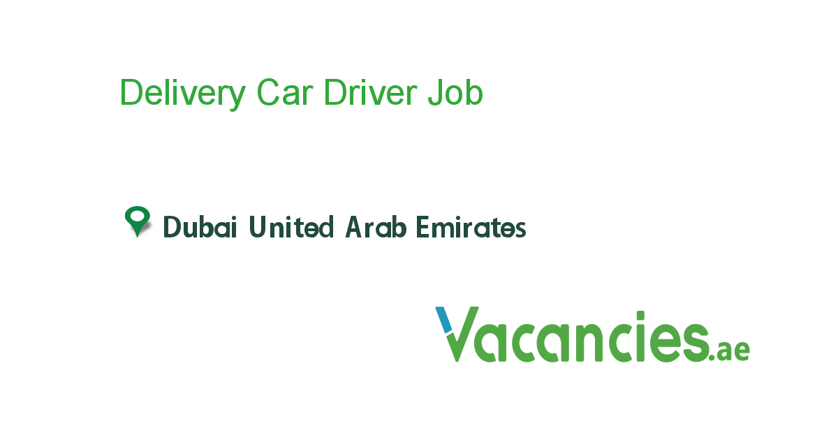 Delivery Car Driver