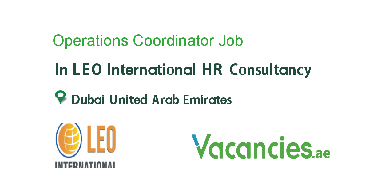 Operations Coordinator - Vacancies.ae