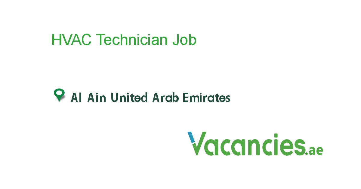 HVAC Technician - Vacancies.ae